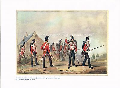 Regiments Of Light Infantry (The 90th Light) Antique British Military Print #BMP