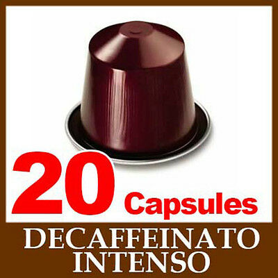 2x10 DECAFFEINATO INTENSO Nespresso Coffee Capsules *CHRISTMAS*
