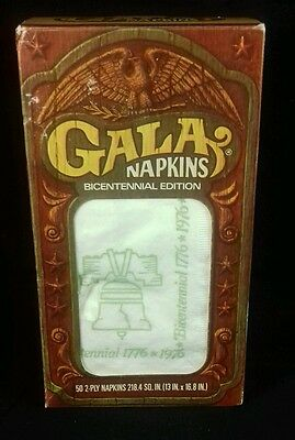 New Vintage Gala Napkins Bicentennial Edition 1776-1976