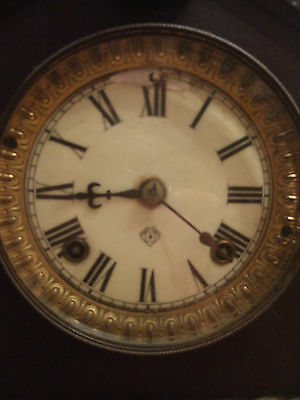 Antique (1883-1929)  Ansonia (New York) 8 Day Wood Mantle Clock