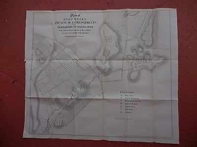 REVOLUTIONARY WAR MAP OF FORT GREEN, BROOKLYN, N.Y.  from VALENTINES MANUAL1856