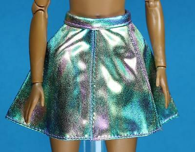 Faux Leather Luminescent Full Circle Skirt 2016 Barbie Separates