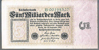 GERMANY BANKNOTE 5 P115a 1923 GVF-aEF