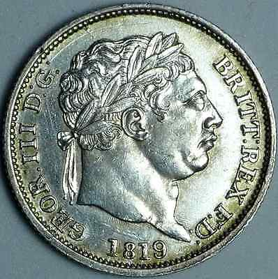 1819 George III Shilling in a high grade