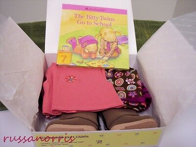NIB American Girl Bitty Twins School Time Skirt Outfit Retired Hard to Find