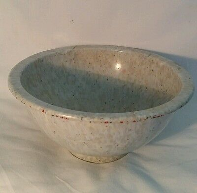 """Vintage TexasWare Confetti 8"""" Melmac Bowl, #111,Gray/Has Been Repaired"""
