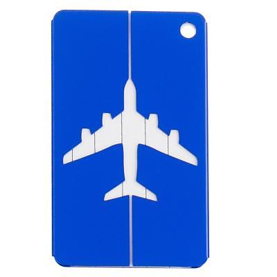 Travel Suitcase Luggage Baggage Bag Tag Name ID Contact Address Label Blue