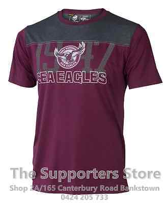 Manly Sea Eagles NRL 2017 Classic T Shirt  Adult Sizes S-5XL!