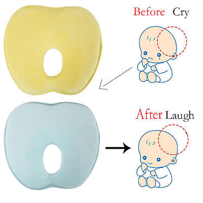 Infant Baby Support Pillow Sleep Positioner Cushion Flat Head Memory Foam Pad