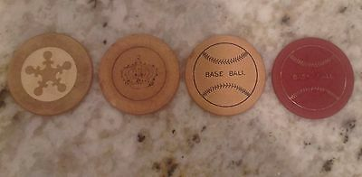 antique clay poker chips (4)