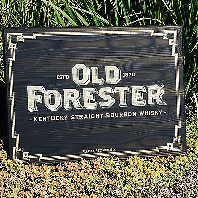 """Old Forester Kentucky Whiskey Wall Wood Sign Beer Bar Pub Man Cave Mirror """"New"""""""