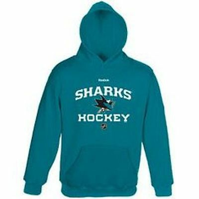 2321a7e27 NHL Reebok San Jose Sharks Little Boys Teal Hooded Pullover Hoodie  Sizes M    L