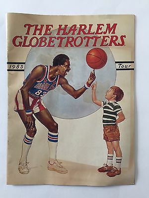 Harlem Globetrotters 1983 Tour Program, Basketball, Vintage