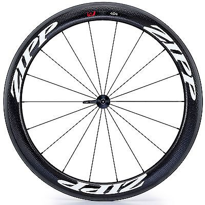 Zipp 404 Firecrest Carbon Road Bike/Cycle Clincher Wheel - Front - Black Decal