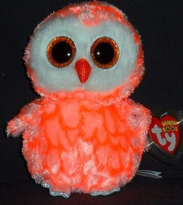"TY BEANIE BOOS BOO'S - CORA the 6"" OWL - JUSTICE EXCLUSIVE - MINT with MINT TAG"