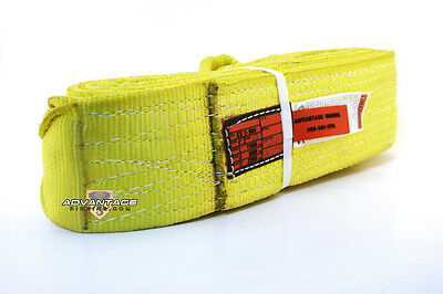 EE2-904 X12FT Nylon Lifting Sling Strap 4 Inch 2 Ply 12 Foot Feet USA MADE