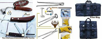 Horse Farrier Tool Equine Care Complete Tool Kit Hoof Nipper Knife 11 Pcs 98479