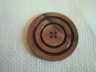 Vintage Laminated Celluloid Sew Through Wafer Button 1 7/16 In.