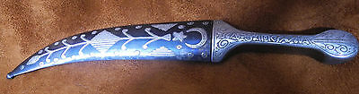 "Rare Antique Islamic Persian Silver Dagger Signed Dated 1289 ""1867"""