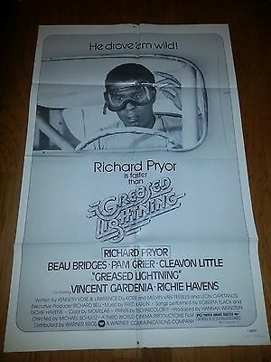 Richard Pryor  Greased Lightning 1977 Movie Poster Pam Grier