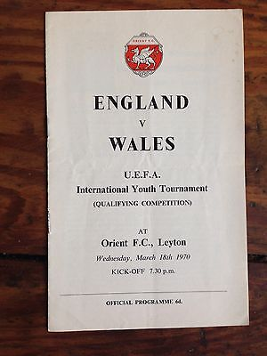England v Wales Youth Match 69-70 at Orient