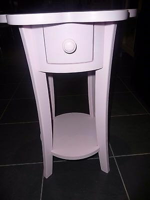 Girls wooden side table - with drawer