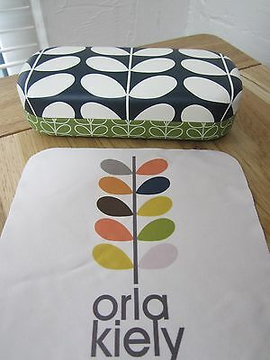 Orla Kiely Sunglasses/glasses Case With Cleaning Cloth Green Stem Design New