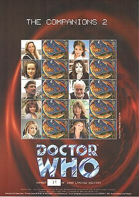 BC-026 2004 Doctor Who - The Companions 2 Business Smilers Sheet