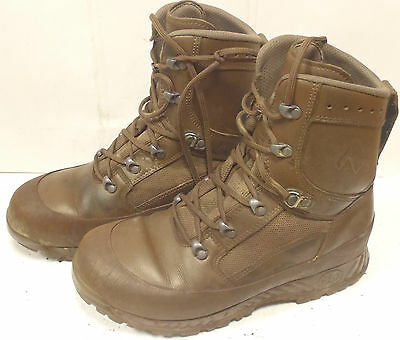 British Army Haix Combat High Liability Boots - Size 8 M - Brown Boots - SN1897