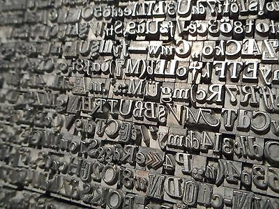 10. Letras Imprenta Vintage Decorative Letterpress Caja Tipos Metal Antiguos