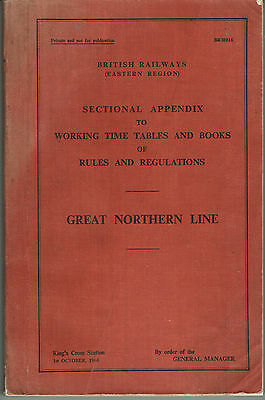 Sectional App'x to the W'king T/T & Books of Rules and Regs. BR Gt Northern Line