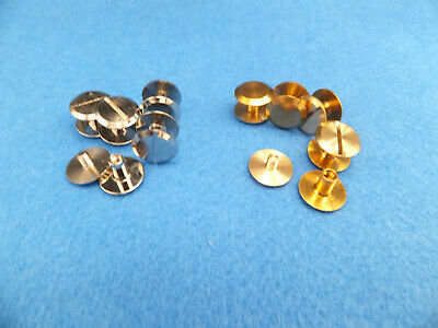 5-50 Chicago Screw 12 Mm Studs Rivets  Strap Belts  Fasteners Solid Brass Nickel