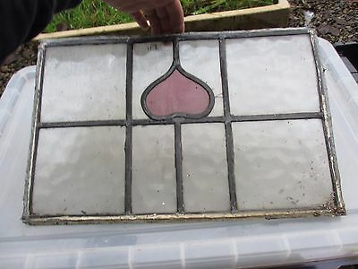 Art Nouveau Stained Glass Window Panel Architectural Antique Vintage Old
