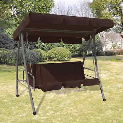New Outdoor Swing Chair Garden Sun Bed Hammock Daybed Shade Canopy Patio Coffee
