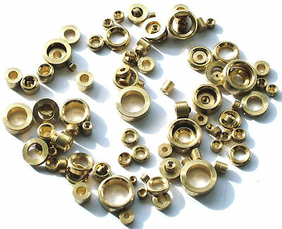 Approx. 100 Assorted Brass Clock Bushes