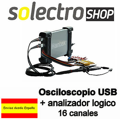 Osciloscopio Digital Usb Hantek 6022BL + Logic Analyzer 20 Mhz