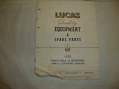 Original Lucas Equipment & Spares For Vauxhall & Bedford Cars & Vans 1955