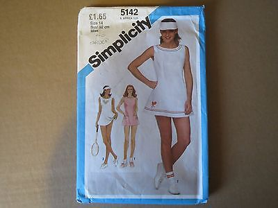 SIMPLICITY VINTAGE 1980s. MISSES DRESS & BLOOMERS PATTERN  size 14