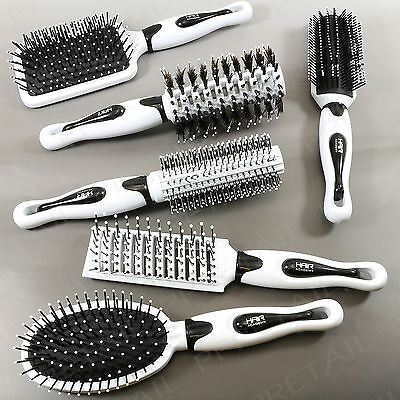 6Pc BRANDED HAIR BRUSH SET PROFESSIONAL SALON QUALITY Vented Hairdressing Kit