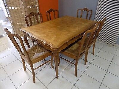 """"""" FRENCH OAK """" table and chair """" IN LOUIS XV STYLE """""""