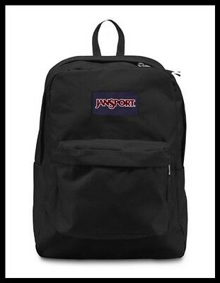 JANSPORT: SuperBreak Original School Bag Backpack in Black (NWT)