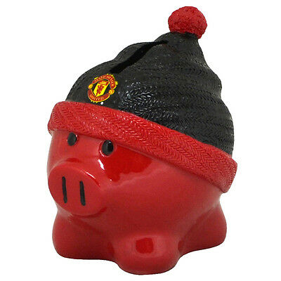Official Licensed Football Product Manchester United Beanie Piggy Bank Coins New
