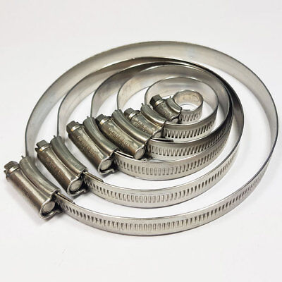 Stainless Steel Hose Clips Jubilee Equiv Worm Clamp Tubing Clip Hose Clamps JCS