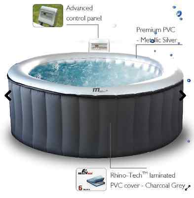Mspa Silver Cloud Round 4 Person Inflatable Hot Tub Spa Jacuzzi - Brand New!