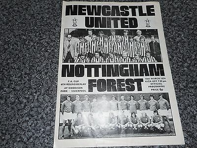 NEWCASTLE UNITED  v  NOTTINGHAM FOREST  1973/4 F A CUP 6th ROUND REPLAY EVERTON