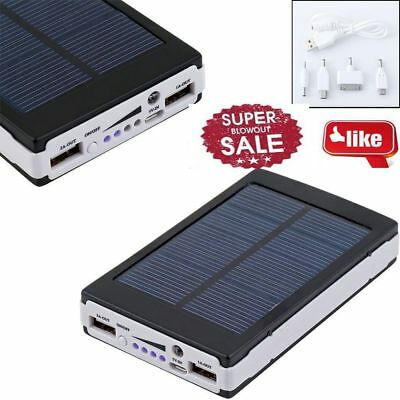 Solar LCD Portable 50000mAh Power Bank Pack USB Battery Charger For Mobile Phone