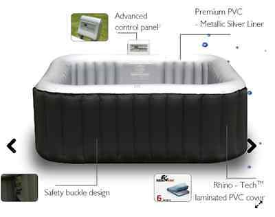 Mspa 2+2 Inflatable Square Alpine Ls Hot Tub Spa Jacuzzi Including Free Bladder