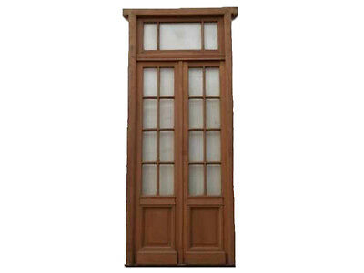 Double Glass Door With Beveled Glass Installed #B1871