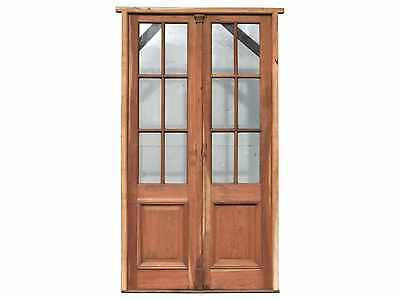 Antique Wooden Double Patio Door #D1088