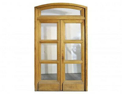 Double Glass Door w/ Arch Top Transom #C1308